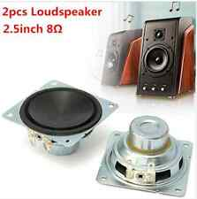 2pcs 2.5 inch 8ω full range audio speaker stereo loudspeaker 10w