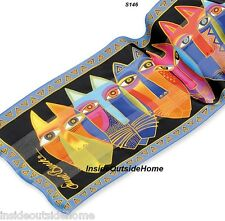 Laurel Burch Tribal Cat Faces Silk SCARF Wrap NEW Retired