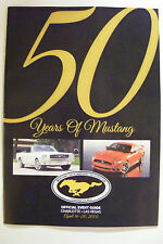 50 YEARS OF MUSTANG OFFICIAL EVENT GUIDE CHARLOTTE LAS VEGAS BIRTHDAY 4/16-4/20