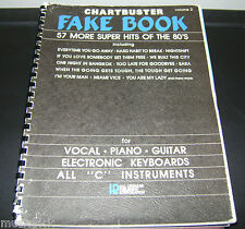 CHARTBUSTER Fake Book 57 Super Hits of the 80s Vocal Piano Guitar 'C' instrument