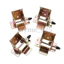 4pcs/lot Iron Folding Table Leg Brackets Fittings Self Lock Foldable Hinges DIY