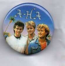 A-HA Button Badge 80s POP BAND -  TAKE ON ME - HUNTING HIGH AND LOW 25mm