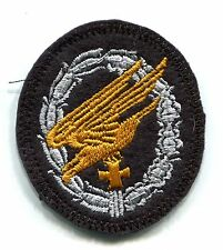 WWII German Paratrooper Jump Badge Iron Cross Panzer Black Wool Back Patch