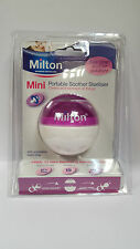 MILTON MINI PORTABLE SOOTHER STERILISER WITH 10 STERILISING TABLETS