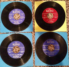 LOT OF 4  ' JAMES BROWN AND THE FAMOUS FLAMES ' HIT 45's      THE 60's!