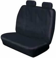 HEAVY DUTY FRONT DOUBLE BENCH BLACK WATERPROOF SEAT COVER PEUGEOT PARTNER