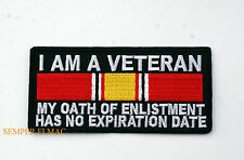 I AM A VETERAN MY OATH OF ENLISTMENT HAS NO EXPIRATION HAT PATCH US COAST GUARD