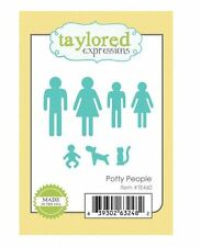 Taylored Expressions Cutting Die Set ~ POTTY PEOPLE Icons, Baby, Dog, Cat ~TE460