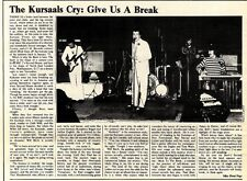 SL9/1/76p10 article & Picture : The Kursaals Cry- give us a break