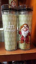 Disney Parks Grumpy Coffee Mug Drink Travel Tumbler I Hate Mornings