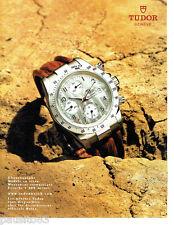 PUBLICITE ADVERTISING 1016  2005  La montre Tudor  chronographe étanche