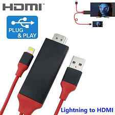 Lightning to HDMI Cable AV Adapter AirPlay for Apple iPad Air 2 Pro mini iPod