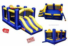 Jump Inflatable Bounce House Commercial Racing Dual Slide Kid Outdoor Backyard