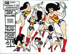 CHALLENGE Of The SUPER FRIENDS : WONDER WOMAN ACTION POSES MODEL SHEET ALEX TOTH