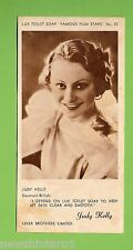 "#D4. 1930s LUX TOILET SOAP ""FAMOUS FILM STARS"" ACTRESS CARD, JUDY KELLY"