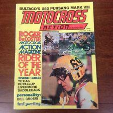 MOTOCROSS ACTION APRIL 1975 BULTACO PURSANG DECOSTER SADDLEBACK VINTAGE MX AHRMA