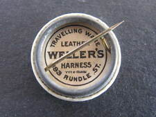 Leather Wellers Harness Rundle Street Advertising on reverse of Shield Badge