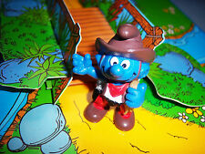 20122 Schtroumpf cow boy smurf pitufo puffo puffi lasso beige variante rarissime