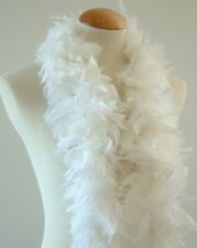 "45g 52"" long Snow White chandelle feather boa, diva night, dress up, dancing New"