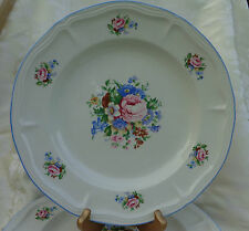 "VINTAGE PERUGINA STONEWARE CHINA,4 DINNER PLATES 11""."