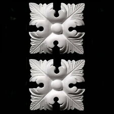 PLASTER ORNATE DECORATIVE MOULDINGS ~ LARGE SQUARE LEAF ~ ANTIQUE STYLE