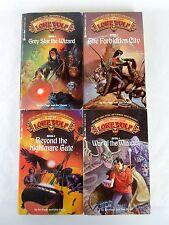 Rare Lot 4 Grey Star World of Lone Wolf Joe Dever Gamebook Series Complete Set