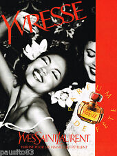 PUBLICITE ADVERTISING 065  1997  YVES SAINT LAURENT  Parfum  YVRESSE