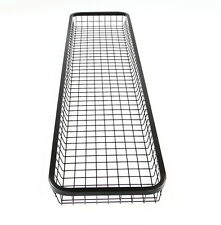 TIB90205 Wire Mesh Basket,Black Steel Long and Narrow Basket,Universal Brackets