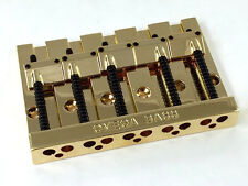 Gold OMEGA High Mass Badass V Style 5-string Bass Guitar Bridge BB-3360-002
