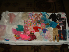 40 PIECE LOT OF BARBIE SIZE DOLL CLOTHING ITEMS~LONG GOWNS~DRESSES~PANTS~TOPS