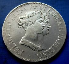 5 Franchi 1808 Lucca e Piombino Felice ed Elisa 1805/1814 Rara e Bella 4° Tipo