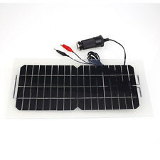 18V 5.5W Portable Solar Power Panel Car Battery Charger Universal with Cable