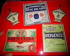 Ancienne Etiquette Rhum René Ricard Cusenier Kummel Doré & Oxygénéé ( Absinthe ?
