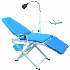 Dental Portable Chair Cold Light + Cuspidor Tray Equipment Mobile Unit US STOCK