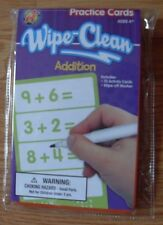 Wipe Clean ADDITION Flash Cards w/Marker Learning School Supplies Homeschool