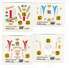 TOP SALE 4 Stk BBR-Decal Porsche 550 Carrera Panamericana 1954 Scale 1/43