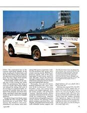 1989 PONTIAC TRANS AM 20TH ANNIVERSARY HISTORY PICTURES & TEXT 4PGS PRINTED 1989