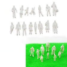 100 Pcs/set Scale 1:75 White Model People Unpainted Landscapes Model DIY Toy New