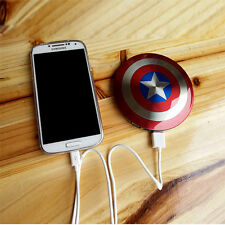 New Portable Captain America Power Bank Charger Battery 6800mAh For Cell Phone