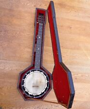 Antique W.E.Temlett Apollo No 3 - 7 String Tenor Zither Banjo Rosewood Resonator