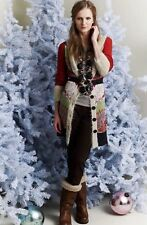 """Anthropologie Lia Molly """"Winter Fern"""" Sweatercoat NWOT Sz Small"""