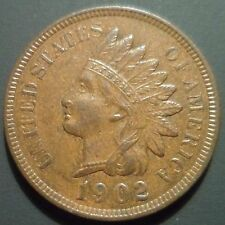 Au 1902 19/19 Indian Head Cent Rpd Snow 16 S16 Rare Repunched Date Error n27