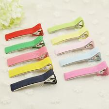 50 Kids Girls Hair Accessories Hair Section Clip Hairpin Grip Duck-Bill Clip