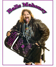 BALLS MAHONEY ECW WWE SIGNED AUTOGRAPH 8X10 PHOTO W/ PROOF