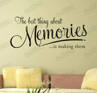 Memories best thing stickers wall Quote Removable Art Vinyl Decor Home Au decal