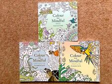 3 Small Adult Colouring Books (Underwater, Tropical & Birds) New Mindful P/B Set