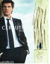 PUBLICITE ADVERTISING  026 2010  Cerruti 1881  parfum & homme Marc Lavoine