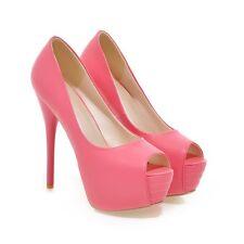 Womens Platform Peep Toe Super High Heels Stilettos Party Pumps Shoes Size 2-9