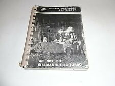 JCB Excavator Loader Parts Book 3C 3CX 3D Sitemaster 4C Turbo