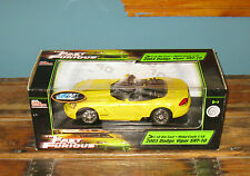 Ertl 1:18 Fast and The Furious 2003 Dodge Viper SRT-10 & Box 2003 FREE SHIPPING